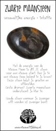 Zwarte Maansteen incl. Edelsteenkaartje