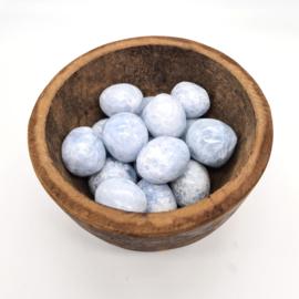 Calciet blauw trommelsteen