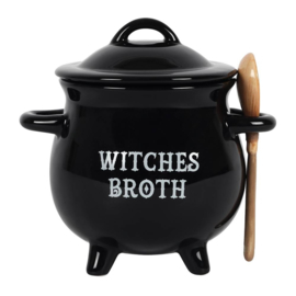 Witches Broth Soepkom met Heksenbezem Lepeltje