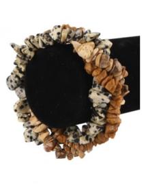Splitarmband Combi Jaspis