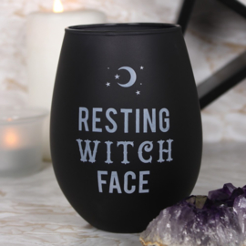 Resting Witch Face Wijnglas