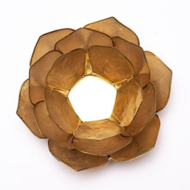 Lotus Sfeerlicht Smoked/Beige goudrand