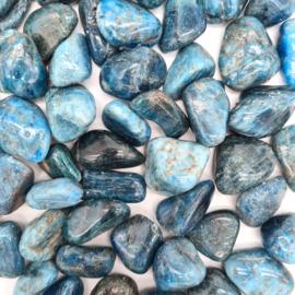 Apatiet blauw trommelsteen incl. Edelsteenkaartje