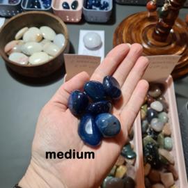 Agaat Blauw trommelsteen incl. edelsteenkaartje