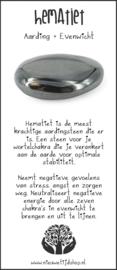 Hematiet Bol 2,5 cm. incl. Edelsteenkaartje