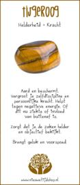 Tijgeroog zaksteen incl. Edelsteenkaartje