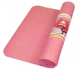 Yogamat Jute Roze