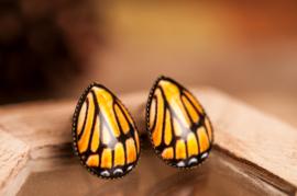 Monarchvlinder oorbellen druppel