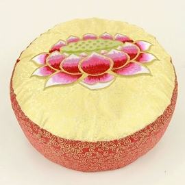 Meditatiekussen Lotus Rood/ Geel