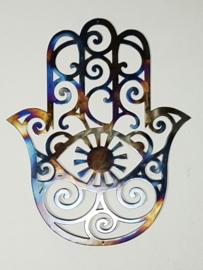 Metalen Hamsa Hand Muurdecoratie