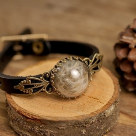 """Make a wish"" Armband zwart"