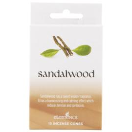 Wierookkegeltjes Sandalwood