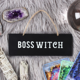 Boss Witch bordje