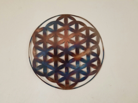 Metalen Flower of Life Muurdecoratie