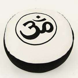 Meditatiekussen Ohm in Zwart/ Crème