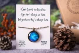 Halsketting Universum met Geschenkkaartje