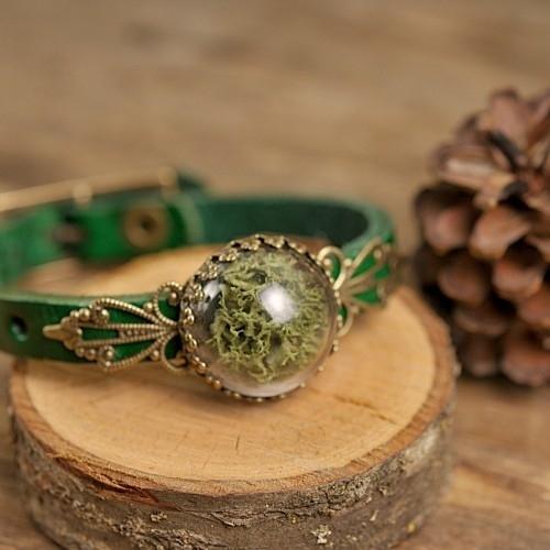 """Mos"" Armband groen"