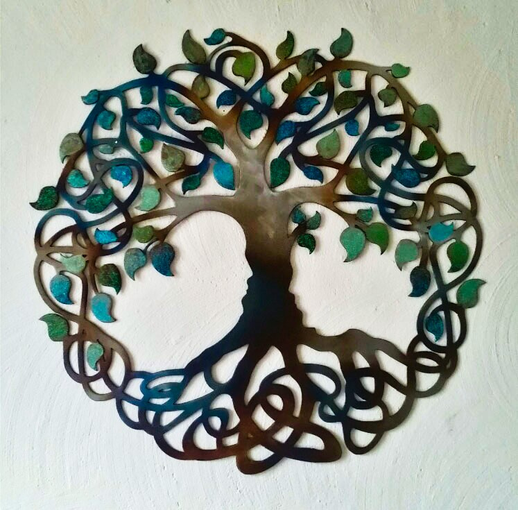 Metalen Tree of Infinity Muurdecoratie