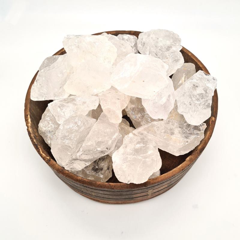 Bergkristal Brok met edelsteenkaartje