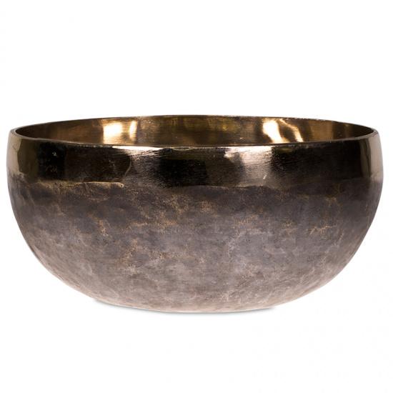 Klankschaal Ishana zwart / goud 14,5 cm- 565 gr.