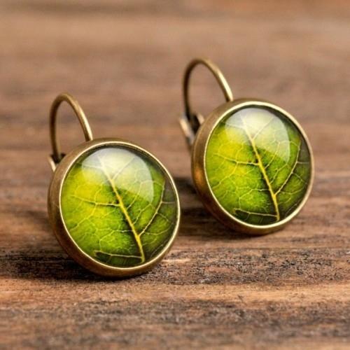 Green Leaf Oorbellen