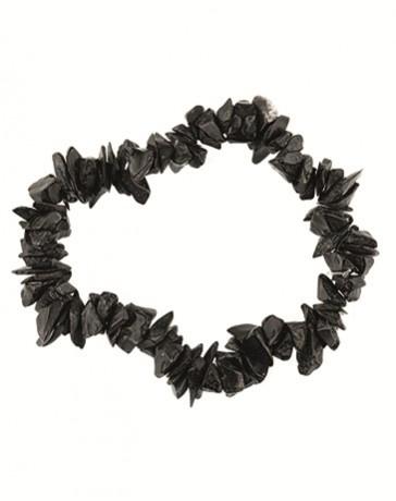 Splitarmband Agaat zwart