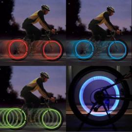 2 x LED Fietsventiel, Fietslicht voor Ventiel
