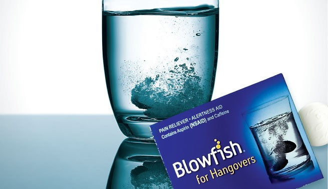 5 x BlowFish anti-kater - 2 bruistabletten