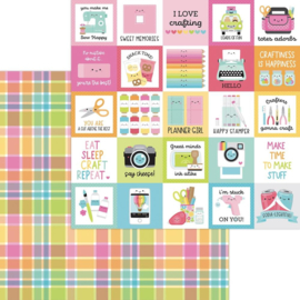 """Dooblebug Cute & Crafty Double-Sided Cardstock 12""""X12"""" Perfectly Plaid preorder"""