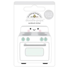 Doodlebug Doodle-Pops 3D Stickers What's Cookin'?