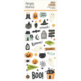 Simple Stories Spooky Nights Puffy Stickers 38/Pkg preorder