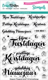 Carlijn Design Stempels Elegante kerst