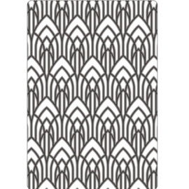 Sizzix Multi-Level Texture Fades Embossing Folder - Arched 665459 Tim Holtz