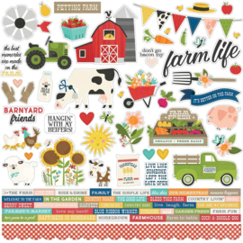 """Simple Stories Homegrown Cardstock Stickers 12""""X12"""" Combo preorder"""