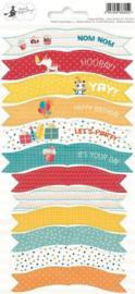 Piatek13 - Sticker sheet Party Happy Birthday 01 P13-420 10,5x23 cm