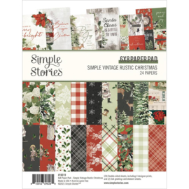 """Simple Stories Double-Sided Paper Pad 6""""X8"""" 24/Pkg Simple Vintage Rustic Christmas"""