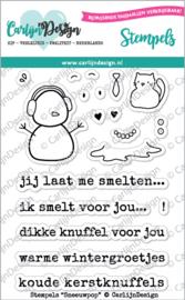 Carlijn Design Stempels Sneeuwpop