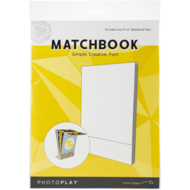 """PhotoPlay Matchbook 4""""X6"""" White, 6 Pages"""