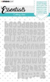 Studio Light Embossing Die Cut Stencil Alphabet Essentials nr.355 STENCILSL355