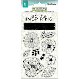 Vicki Boutin Fernwood Acrylic Stamps 11/Pkg Inspiring preorder