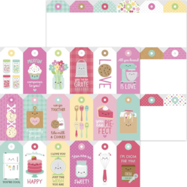 """Dooblebug Made With Love Double-Sided Cardstock 12""""X12"""" Treat Tags"""