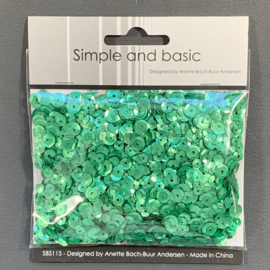 Simple and Basic Pale Green Sequin Mix (SBS115)