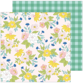 """PinkFresh Happy Blooms Double-Sided Cardstock 12""""X12"""" Blossom"""