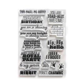 Elizabeth Craft Designs Prince & Frog Sentiments CS185