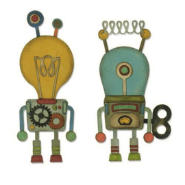 Sizzix Thinlits Die Set - 14PK Robotic 664162 Tim Holtz