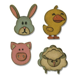 Sizzix Sidekick Side-Order Set Critters 664151 Tim Holtz
