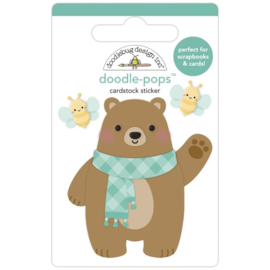 Doodlebug Doodle-Pops 3D Stickers Beary Cute