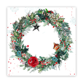 Pretty Little StudioPaper | Boughs of Holly 12x12 (single-sided)