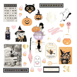 Thirty-One By Frank Garcia Cardstock Ephemera 35/Pkg Shapes, Tags, Words, Foiled Accents