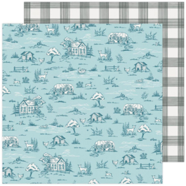 """Maggie Holmes Garden Party Double-Sided Cardstock 12""""X12"""" Gingham Grove"""